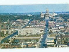 Aerial View of old Des Moines, Iowa