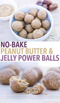 No-Bake Peanut Butter & Jelly Power Balls, gluten free & easy!
