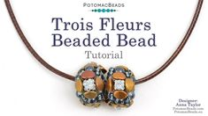 Trois Fleur Beaded Bead - DIY Jewelry Making Tutorial by PotomacBeads Jewelry Making Tutorials, Beading Tutorials, Anna, Beaded Bead, Beaded Necklaces, Weaving Projects, Beading Supplies, Bead Weaving, Seed Beads