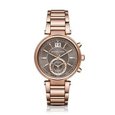 Women's Wrist Watches - Michael Kors Womens Sawyer Rose GoldTone Watch MK6226 *** Visit the image link more details. (This is an Amazon affiliate link)