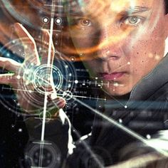 Artwork by Ash Thorp // Ender's Game Ash Thorp, Ender's Game, Asa Butterfield, Cg Artist, Ui Design Inspiration, User Interface, Computers, Studios, Sci Fi