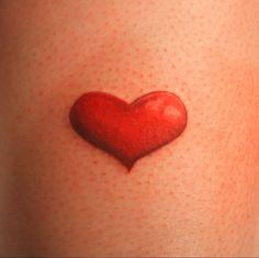 Simple Red Heart Tattoo - Interior Home Design White Wrist Tattoos, Full Leg Tattoos, Hand Tattoos, Small Tattoos, Tatoos, Brush Tattoo, Fox Tattoo, Calf Tattoo, Ankle Tattoo