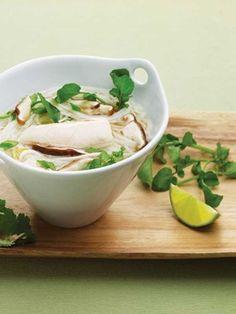 Vietnamese chicken pho soup