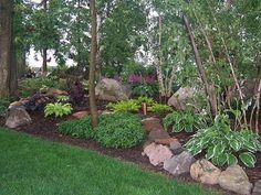 Wooded Area Full Shade Garden | ... ,Astble, Heuchera, Gardens, Landscaping, Rock Garden, Shade Garden