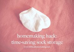 homemaking hack: sock storage for the whole family