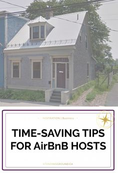 Time-saving tips for AirBnB hosts.