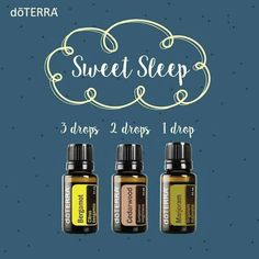 Sweet Sleep - put on a tissue next to bed, diffuse, rub on palms & breathe in, rub on bottom of feet