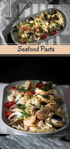 Al dente pasta and seafood make for a beautiful combination of flavours. So there is no good reason not to make this seafood pasta recipe!