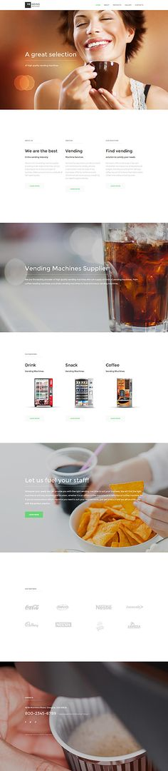 Food & Drink website inspirations at your coffee break? Browse for more Bootstrap #templates! // Regular price: $75 // Sources available: .HTML,  .PSD #Food & Drink #Bootstrap