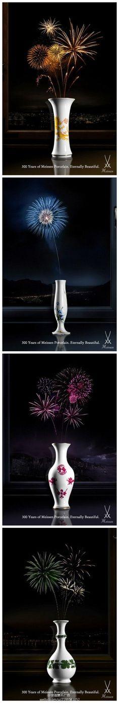 """国迈森瓷器创意广告:""""300年的迈森瓷器..."""
