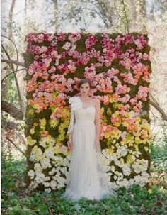 Flower Wall! (Could create with paper maché?)