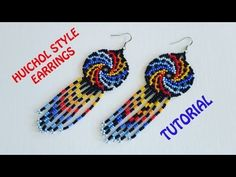 Tutorial for the Spiral Huichol earrings plus Beaded Fringe Seed Bead Tutorials, Jewelry Making Tutorials, Beading Tutorials, Seed Bead Jewelry, Seed Bead Earrings, Beaded Earrings, Fringe Earrings, Wire Jewelry, Beaded Jewelry Patterns