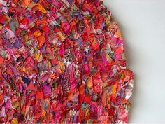 detail of Barbara Wisnoski's pieced fabric - folded circle - 152 x 152 cm
