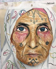 Painted an old Kurdish woman, the tattoos on her face is part of my culture and done using oil paints The Kurds, Kurdistan, Runes, Sketches, Culture, Oil, Woman, Tattoos, Lady