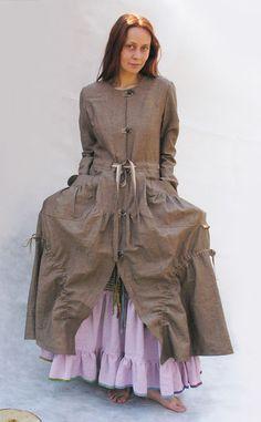 """Верхняя одежда ручной работы. Ярмарка Мастеров - ручная работа. Купить Платье-пальто """"Бохо-шик"""". Handmade. Пальто"""