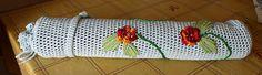 Finished Irish Crochet Yoga Mat Bag by Avital Pinnick, via Flickr