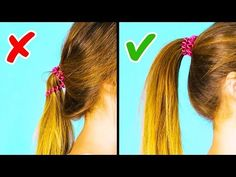 20 Cool 1 Minute Hairstyle Hacks You Easy And Beautiful Hairstyles, Easy Summer Hairstyles, Easy Hairstyles For School, Heatless Hairstyles, Greasy Hair Hairstyles, Fancy Hairstyles, Diy Hair Hacks, Hairstyle Hacks, Hacks Diy