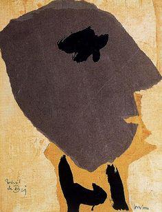 Asger, Jorn , Portrait of the Painter Enrico Baj