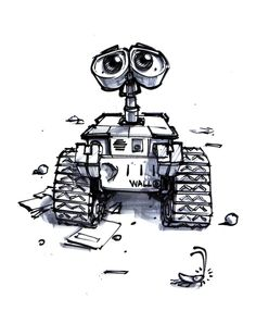 Wall-E by Jason Deamer https://www.facebook.com/CharacterDesignReferences