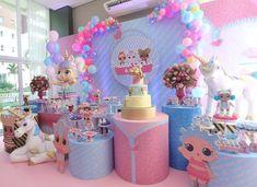 Lol unicórnio pra Maria Cecília💕 #lol #lolunicornio #lolsurprise #decoracaolol #dudabaluza 6th Birthday Parties, Surprise Birthday, Adoption Party, Doll Party, Ideas Para Fiestas, Lol Dolls, Animal Party, Unicorn Party, Balloon Decorations