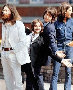 Now The Cameras On The Other Side, While Ringo & Paul Mug For The Photographer