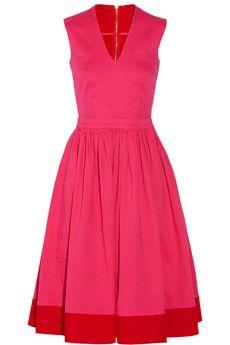 Preen Line Amalfi zweifarbiges Kleid aus Baumwoll-Stretch | NET-A-PORTER