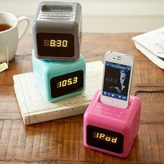 Daybreak DJ Alarm Clock #pbteen This is what I really want for a clock.