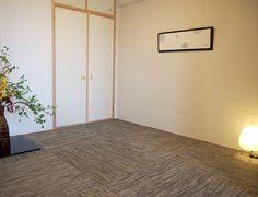 J347モダンな畳マーブル柄の畳は和室をぐっとモダンな印象に。