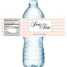 Custom Water Bottle Label  ready to apply by 4WeddingWelcomeBags, $0.50