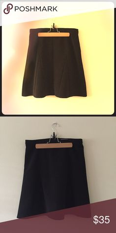 Halogen Godet Flare Skirt Size 4 Black Halogen black Godet style skirt, add kicky flare to polished A-line skirt, topped with a narrow waistband and textured with ottoman ribbing. Back zipper, size 4, above knee great with boots or heals. 98% polyester, 2% spandex. Purchased from Nordstrom. Offers accepted Halogen Skirts A-Line or Full