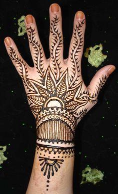 Festival Back Hand Mehndi Design for Younger Girls