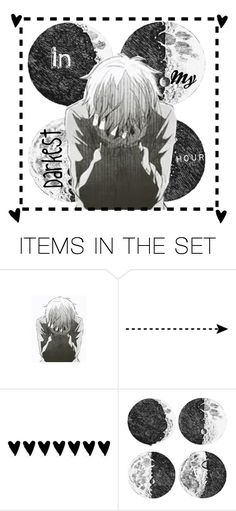 """""""In My Darkest Hour"""" by chibiblue ❤ liked on Polyvore featuring art"""