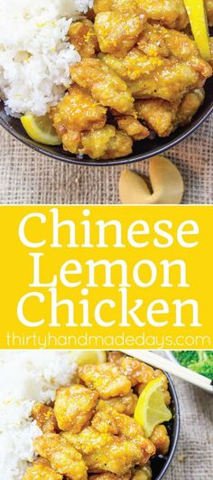 Chinese Lemon Chicken - because it's better homemade! An easy recipe to try from home that will knock your socks off.