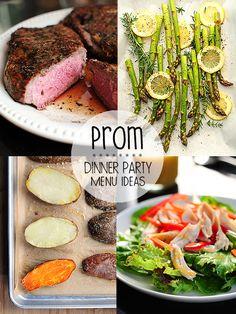 Prom Dinner Party Menu Ideas