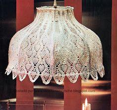 Beautiful Lace lampshade. Some charting. LUMINARIA EM CROCHE