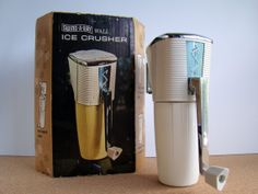 Vintage Swing-A-Way Wall Ice Crusher with Original Box by TheArmchairAntiquer, $38.00