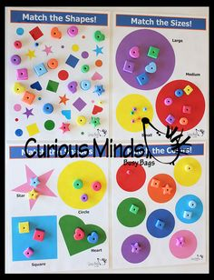 Busy Bag  Match Shapes Colors and Sizes by CuriousMindsBusyBags, $10.00