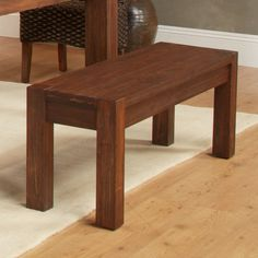 Modus Meadow Solid Wood Dining Bench - Brick Brown | from hayneedle.com