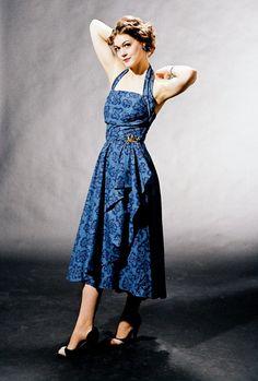 Tiki halter 50's dress from AlexSandra's Vintage Emporium / Etsy