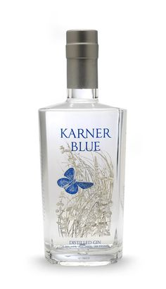 Karner blue gin. 44% ABV. Contemporary. Uses apples as the base instead of grain. 9 botanicals.