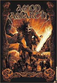 Surtur - Amon Amarth -by Christopher Lovell-Art Death Metal, Arte Heavy Metal, Heavy Metal Music, Amon Amarth, Power Metal, Metal Band Logos, Metal Bands, Metal Tree Wall Art, Metal Artwork