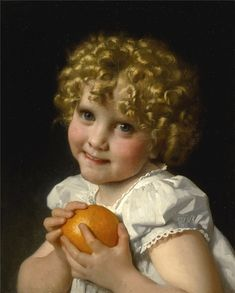 Leon Jean Basile Perrault . Painting For Kids, Children Painting, Victorian, Face, Artist, Fabric, Prints, Dressing, Dolls