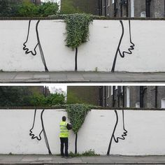 Before and after the @banksy.co.uk bush.  www.UpFade.com