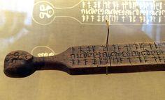 Norwegian calendar stave from 1457. National Museum, Denmark