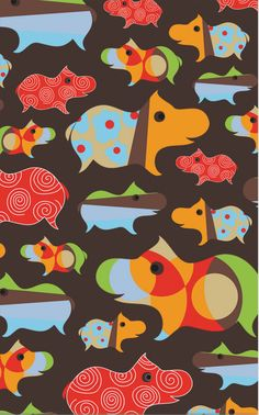The Rug Market Kids Hippo Brown 16480 Brown and Orange and Red area rug