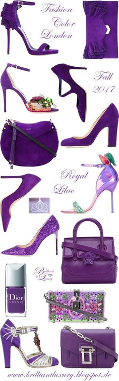 Brilliant Luxury by Emmy DE ♦ Fashion Color Fall 2017 ~ royal purple