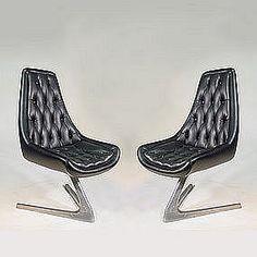 Chromcraft UNICORN swivel chairs | USA 1968
