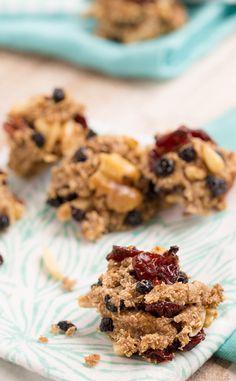 4-Ingredient Banana-Berry Cookies #cookies #healthy #recipe
