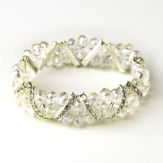 Moonlit Bridals - Clear Silver Clear Double Line Bracelet , $29.99 (http://www.moonlitbridals.com/clear-silver-clear-double-line-bracelet/)
