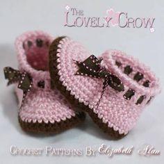 too sweet!   crochet bootie